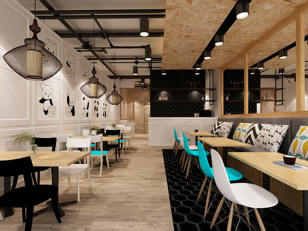Scandinavian, Fun And Young Interior Design Concept.